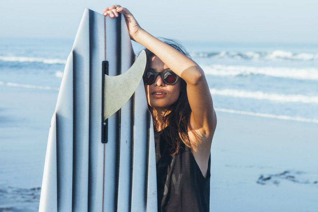 Julia Sullivan shot by Cait Miers for Salt Gypsy sustainable surfwear