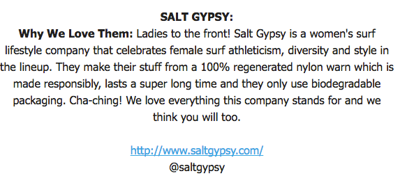 Why Byron Bay Surf Festival loves Salt Gypsy sustainable activewear