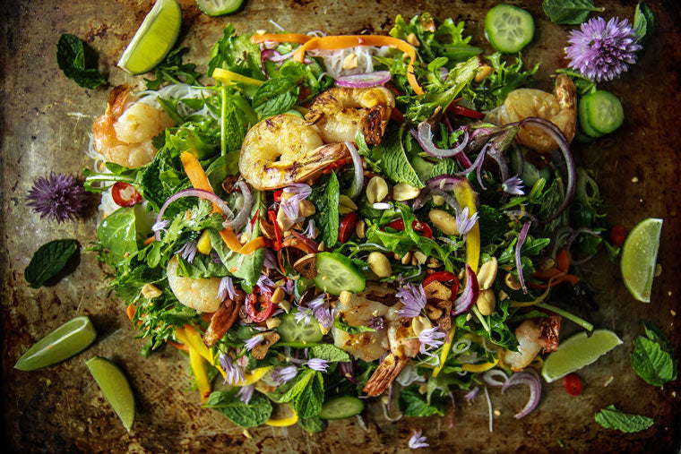 Click & Grow Guide To Beer and Food Pairing: Vietnamese Shrimp Noodle Salad Recipe from Heather Christo