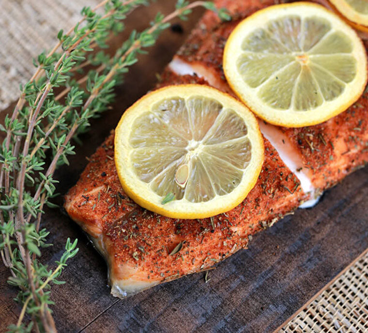 Click & Grow Guide To Beer And Food Pairing: GRILLED CEDAR PLANK SALMON FILLET from Jessica Gavin