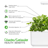 Health benefits of cilantro/coriander (Coriandrum sativum) - Click & Grow indoor garden