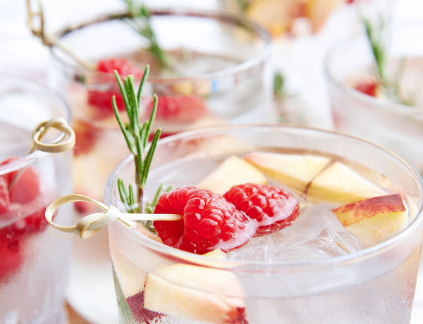 Luscious cocktails made with peppermint, thyme and lavender