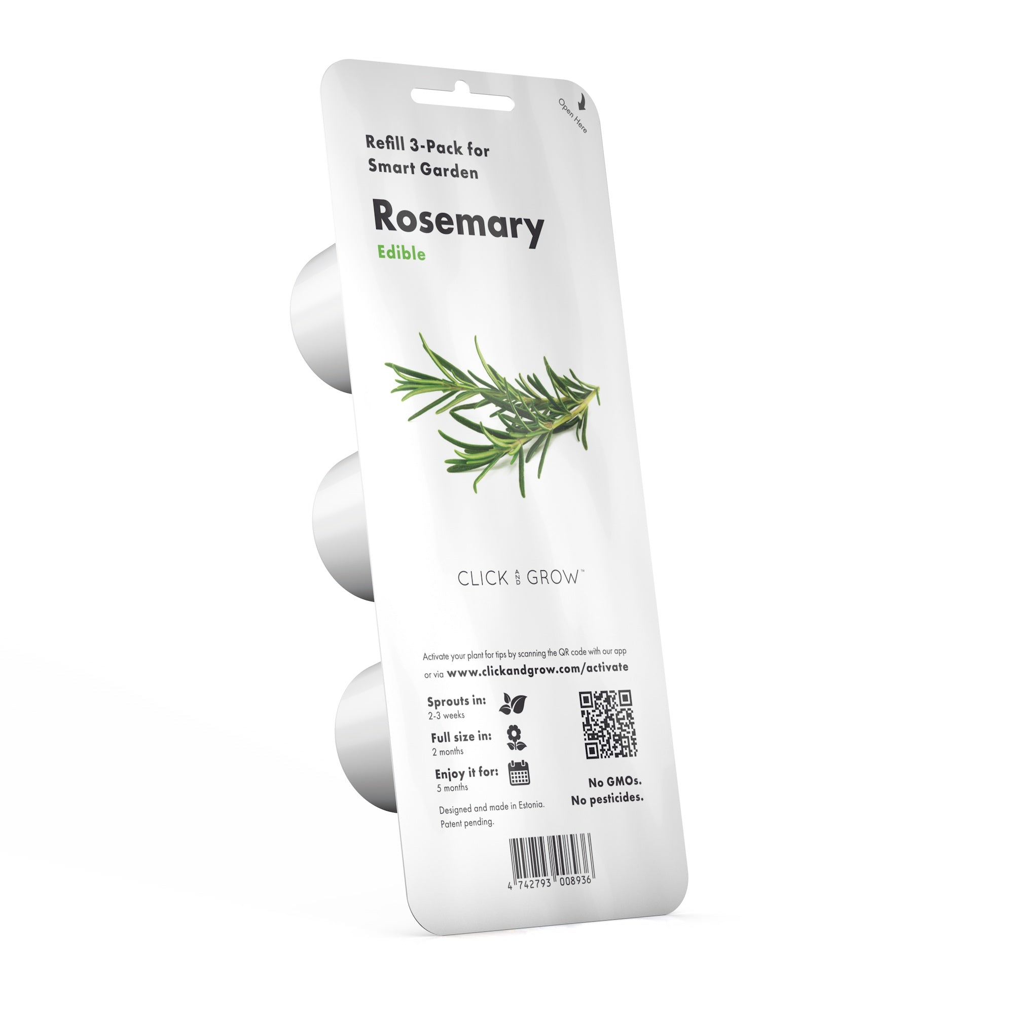 Growing rosemary (Rosmarinus officinalis) using Click & Grow's indoor garden. Cooking with Rosemary and Rosemary Oil Benefits.