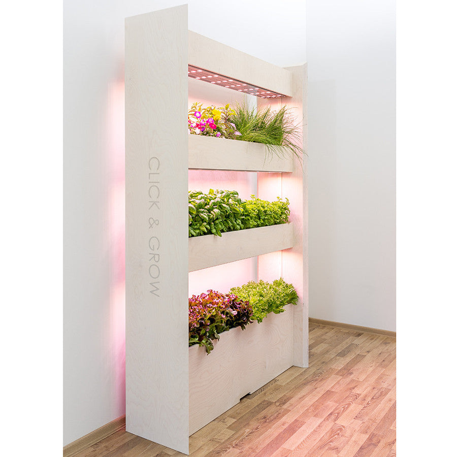Wall Farm for 51 plants (3 shelves).  Grow plants in your indoor vertical garden!