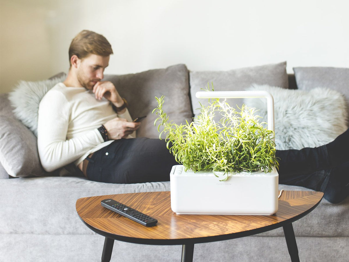 Easy to use indoor garden. Grow fresh herbs with the Click & Grow plant growing kit called the smart indoor garden. It's the best indoor garden available!