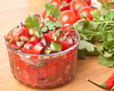 Mini Tomato, Parsley, Chili Pepper. Best salsa is made from homegrown fruits and herbs. Click & Grow.