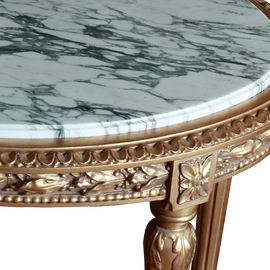 Oval French Gold Gesso Center Table