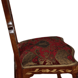 Set Of Four Dutch Marquetry Side Chairs
