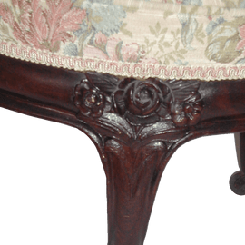Victorian Rosewood Meridienne In The Rosalie Pattern By John Henry Belter