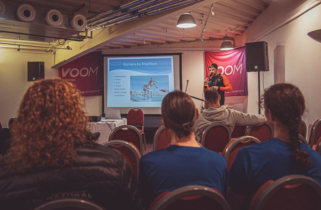 Triathlon Training Tips with Beau Smith on The Voom Stage at FIT Cumbria