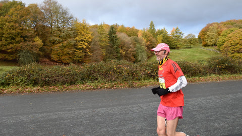Malc Collins enjoys a rare moment of sunshine during the 2020 Brathay 10in10 challenge