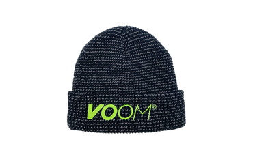 VOOM branded beanie hat with reflective thread