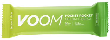 Lemon and lime flavour VOOM pocket rocket electro energy bar