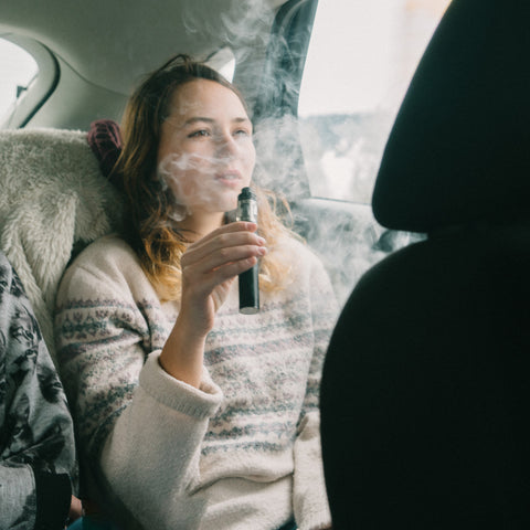 friends on a vaping road trip