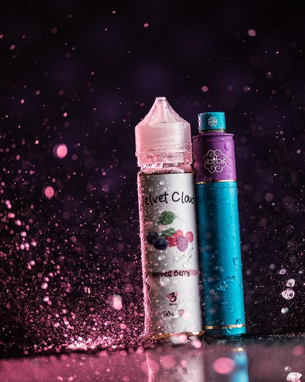 Velvet cloud VG e-liquid harvest berry flavor