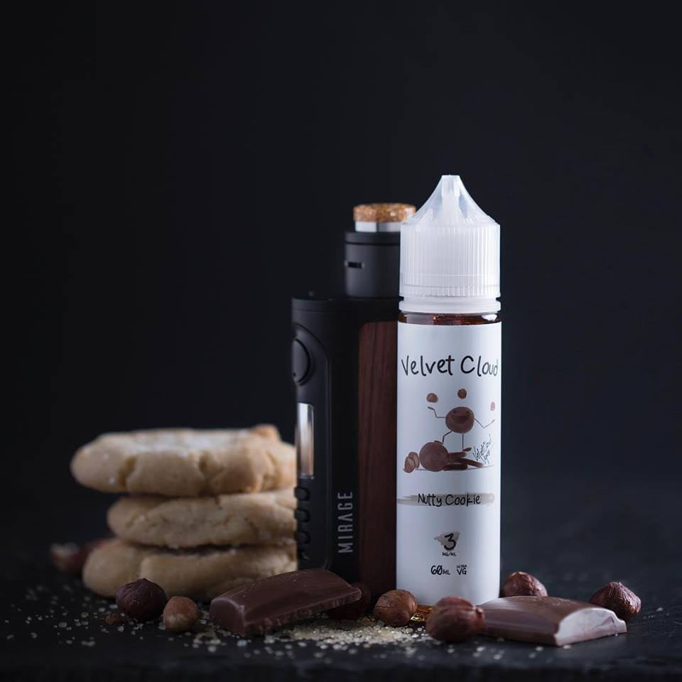 velvet cloud nutty cookie 6mg nicotine strength