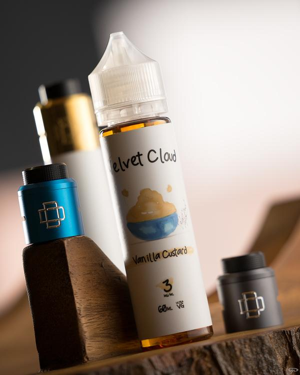 Velvet Cloud desset-flavored e-juice Vanilla Custard