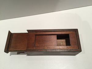 0024 - Chinese Puzzle Box - Brown, Easy Difficulty Level