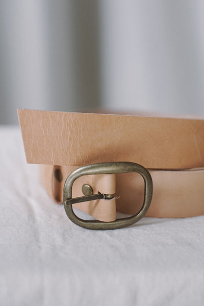 Veg-tanned Leather Belt