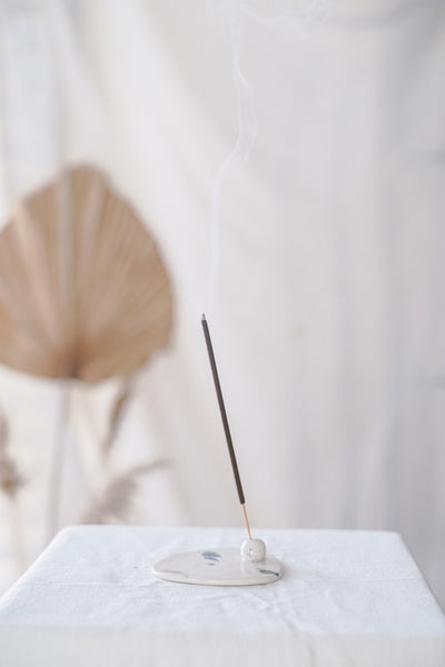 Triangle Incense Dish - White