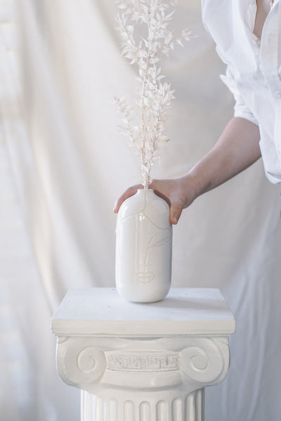 Porcelain Face Vase
