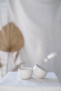 Chattered Sake Cups - Pair