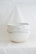 Load image into Gallery viewer, Large Bowl w/ grey blue rim
