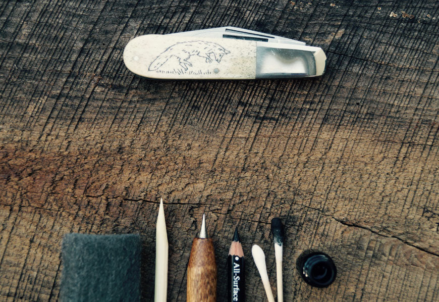 DIY Scrimshaw Knives