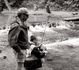 Rick with Orvis instructor Keith