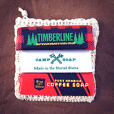 Camp Soap Set Bag Coffee Timberline Benefield Claus