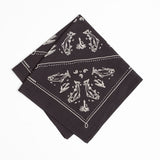 mess of trout bandana black cotton hand-crafted mollyjogger