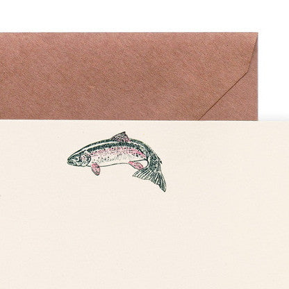 Rainbow Trout Sportsman Notecards USA Made Terrapin Stationers Stationery Sporting