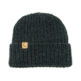 Marled Charcoal Cotton Knit Hat