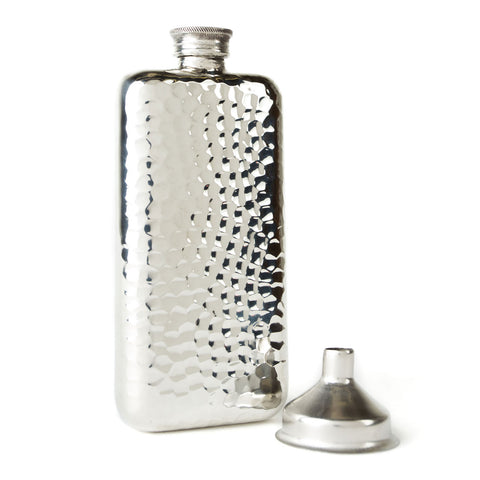 Mollyjogger hammered pewter flask