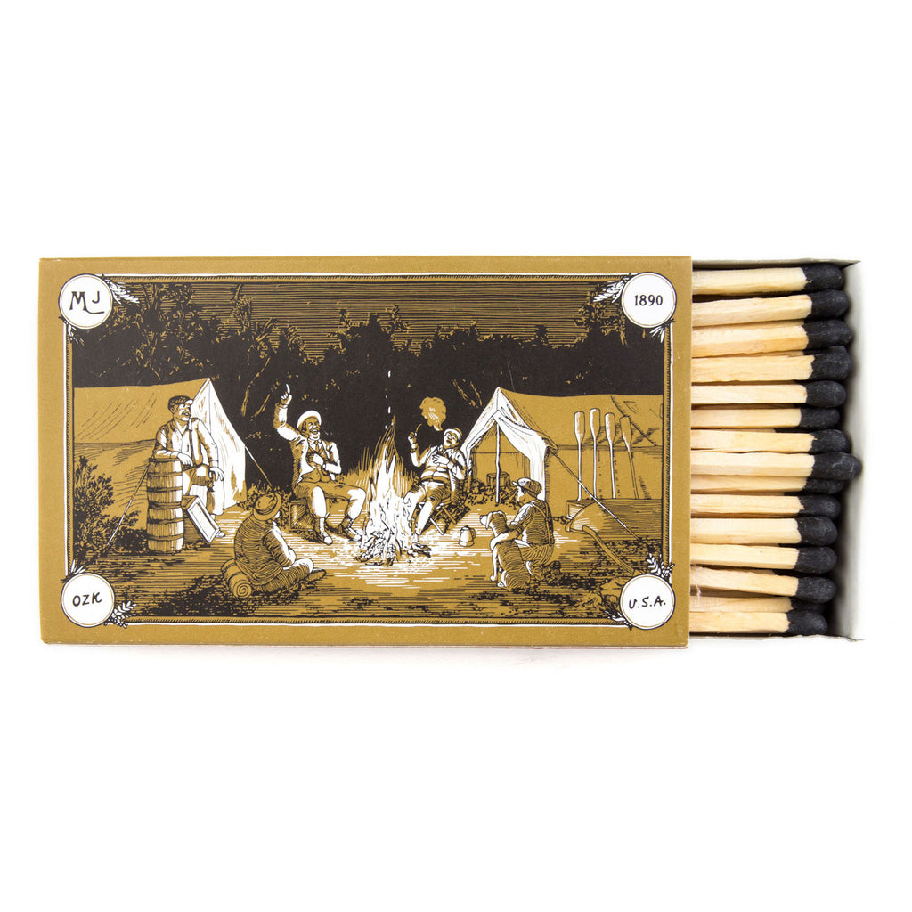 "Safety Matches Mollyjogger HVRNT 4"" Illustrated Candle"