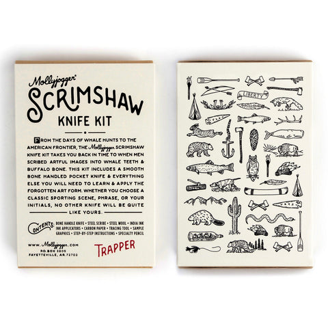 scrimshaw knife kit mollyjogger trapper