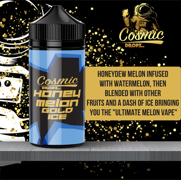Honey Melon Gold Ice - Cosmic Dropz - Fogging Amazing Vape Shop South Africa