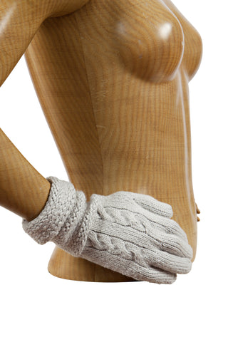 Cable Gloves - Platinum