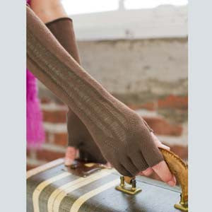 Indigenous Urban Fingerless Gloves - Cafe