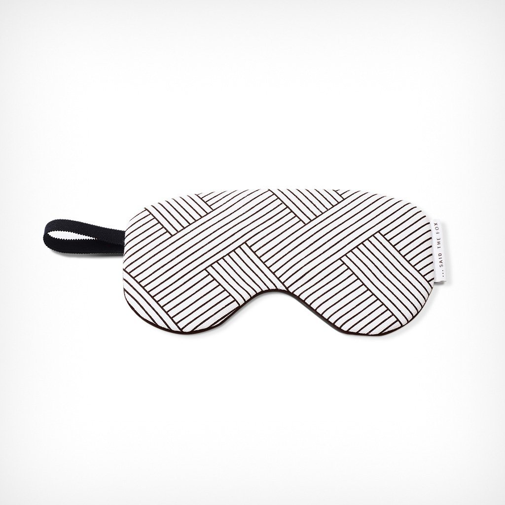 "Sleep Mask ""Lines & Stripes No. 1"" Said the Fox – diesellerie.com"