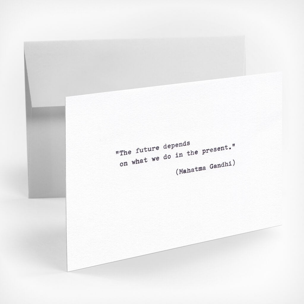 "Grußkarte ""The future depends"" type.Manufaktur – diesellerie.com"