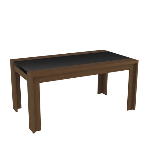 Manhattan Comfort - Eastern 62.99 in. Sleek Gloss and Pro Touch Table Top in Nut Brown