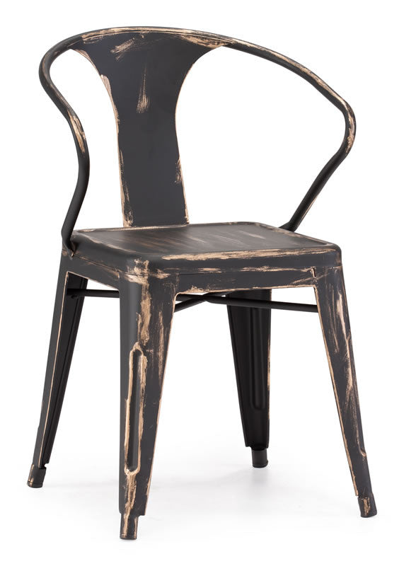 Zuo - Helix Chair Antique Black Gold