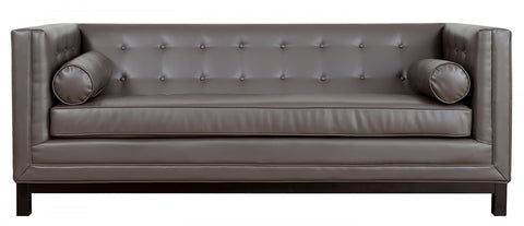 Tov Furniture - Zoe Grey Leather Sofa