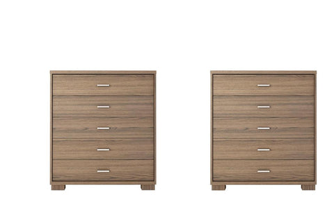 Manhattan Comfort - Astor 2-Piece Bedroom Dresser Set in Chocolate