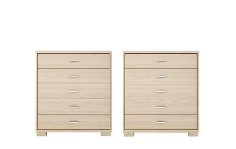 Manhattan Comfort - Astor 2-Piece Bedroom Dresser Set in Oak Vanilla