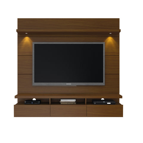Manhattan Comfort - Cabrini 1.8 Floating Wall Theater Entertainment Center in Nut Brown