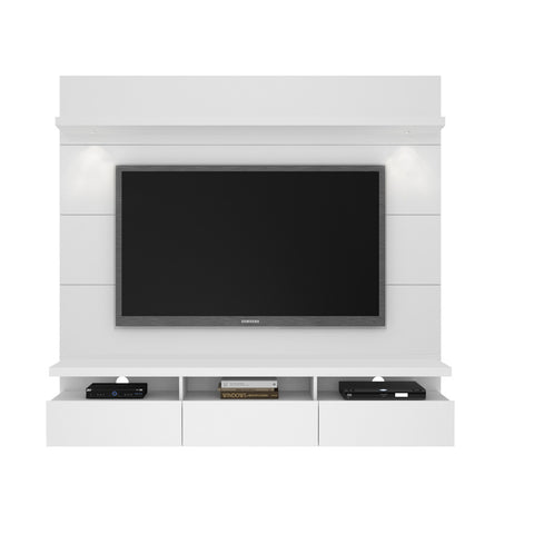 Manhattan Comfort - Cabrini 1.8 Floating Wall Theater Entertainment Center in White Gloss