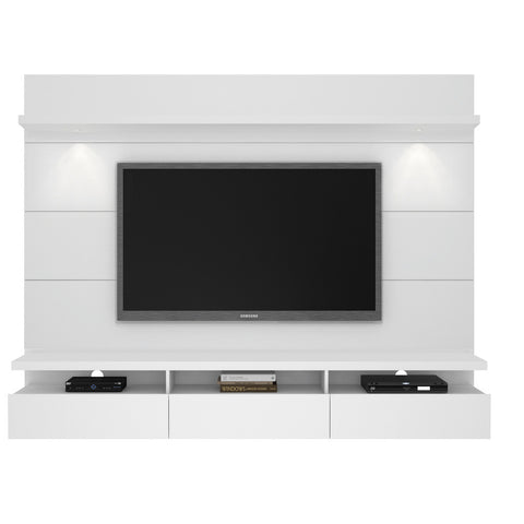 Manhattan Comfort - Cabrini 2.2 Floating Wall Theater Entertainment Center in White Gloss