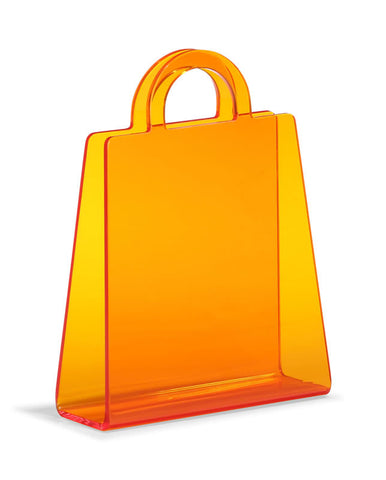 Zuo - Purse Magazine Rack Transparent Orange